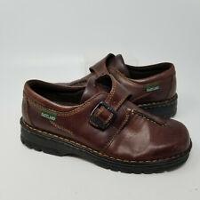 Eastland Brown Leather Slip On Low Walking Hiking Buckle Shoes Women Size 9 W
