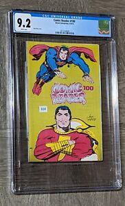 The Comic Reader #100 CGC 9.2 Street 1973 Kirby Superman Shazam Cap ASM #129