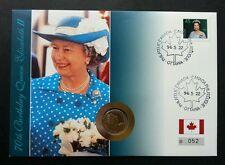 Canada 70th Birthday Queen Elizabeth II 1996 Royal (coin cover)
