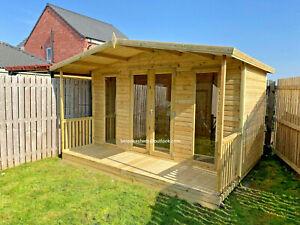 summerhouse contemporary shed cabin garden office veranda man cave summer house