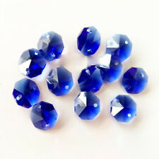 20pcs 14mm Dark Blue Crystal Octagonal beads Decoration Crystal chandelier parts