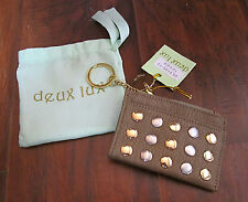 DEUX LUX DL1109-13 - TAUPE – METAL STUDDED CARD/CHANGE PURSE - NEW