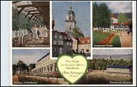DDR Ansichtskarte Thüringen BAD SALZUNGEN Postkarte 5-fach-Mehrbildkarte