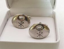 Viking Love Rune Cufflinks in Fine English Pewter.
