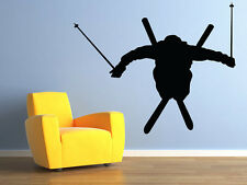 """Skier Ski Jumper Vinyl Wall Decal for Home Decor 35""""x29"""" MADE IN USA"""