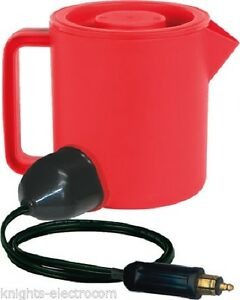 24V 400W 1.5L BIG RED TRUCK / LORRY KETTLE water heater with Hella Plug