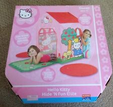 NEW PORTABLE FOLDING POP UP PLAY TENT CHILDRENS/KIDS PLAYHOUSE-Pink Hello Kitty