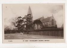 St Mary Magdalene Church Enfield Vintage RP Postcard 283b