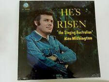"Vintage Vinyl Record--Ken Withington--""the Singing Australian""--He's Risen--New"
