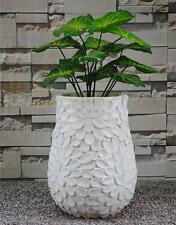 Modern Oval Garden Plant Flower Square Pot Planter White TP5032