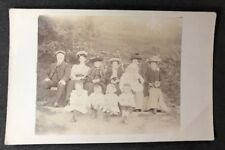 Vintage Real Photo Postcard: People #B394: Family Group Outside Bicycle