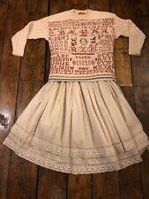 Oilily Vintage Victorian Sampler Folk Peasant Wool Mix Jumper 16 14 12