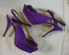 Rare combination YSL Tribute 110 purple patent and suede heels 37.5 UK 4.5 vgc