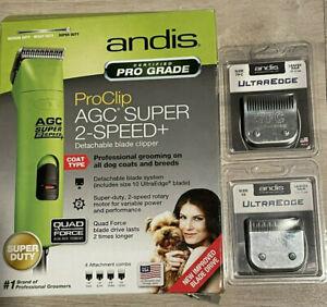 NEW Andis ProClip AGC Super 2-Speed Detachable Blade Clipper Green Dog ultraedge