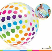"Colorful Giant Beach Ball Intex Jumbo Inflatable Glossy Big Panel  42"" Polka"