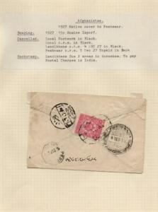 AFGHANISTAN: 1927 Cover to Peshawar - Ex-Old Time Collection - Page (39456)