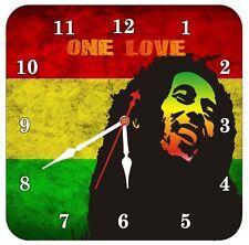 Bob Marley Reggae Jamaican Legend Rasta Wall Clock