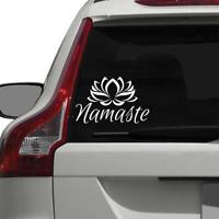 Namaste Sticker Decal Lotus Meditation Yoga Ohm Relax Car Window Bumper
