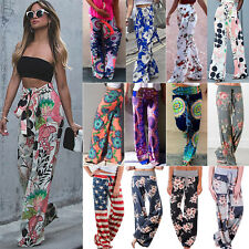 Womens Ladies Wide Leg Pants Palazzo Pants BOHO Gypsy Hippie Long Harem Trousers