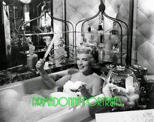 "JUDY HOLLIDAY 8X10 Lab Photo 1954 ""IT SHOULD HAPPEN TO YOU"" Bath time Portrait"