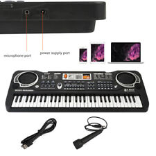Portable Electronic Keyboard Piano 61 Key Organ With Mic For Kids/Adults R1M1