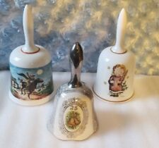 Lot of 3 Vintage Ceramic Collectible Bells Lot