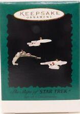 Hallmark Keepsake Ornament 1995 The Ships Of Star Trek Set Of 3 Nip New