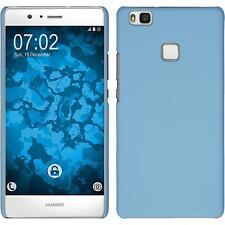 Custodia Rigida Huawei P9 Lite - gommata azzurro + pellicola protettiva