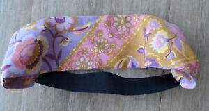Handmade Spell Lilac Pink Mustard Yellow Lolita Floral Print Material Headband