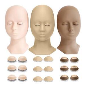 1*Lash Mannequin Head Kit Eyelash Extension Supplies with Practice Training 2021