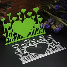 Heart Cutting Dies Stencil DIY Scrapbooking Paper Card Embossing Decor Craft