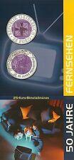 *BROCHURE* 2005 AUSTRIA BIMETAL SILVER/NIOBIUM €25 AUSTRIAN TELEVISION *NO COIN*