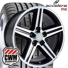 "20x8"" inch Iroc Z Chevy Camaro Black Wheels Rims 5x4.75"" 0 mm 245/30ZR20 Tires"