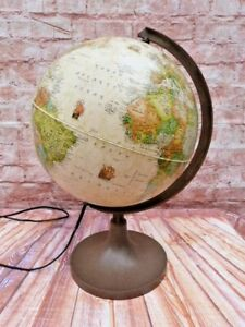 VINTAGE HERITAGE DESK TOP LIGHT UP GLOBE LAMP