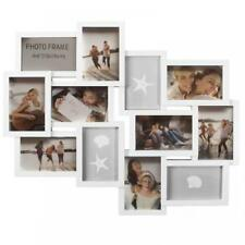 Large White Embossed Wall Hanging Photo Frame 12 Multi Picture Holder Aperture