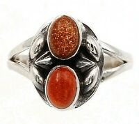Natural Sun Sitara 925 Solid Sterling Silver Ring Jewelry Sz 9.5, ED28-7