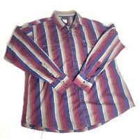 Wrangler Men's Vintage Western Rockabilly Pearl Snap Shirt Size XL