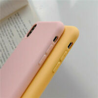 Color Case For iPhone XS MAX XR X 7 8 6s Plus Phone Cover Solid Silicone Candy