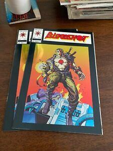 Bloodshot #1 (Feb 1993, Valiant) LOT OF 2 1st Chromium cover in comics NM- & NM+