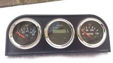 Oil Pressure Water Temp Hour Meter LCD 52 mm Gauges Chrome Bezel Warranty