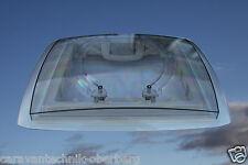 MPK Dachhaube Dachluke Dachfenster Rauchglas 40 x 40 mit Doppelplissee cremeweiß