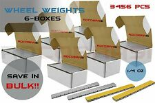 6 Boxes Wheel Weights 1/4 .25 OZ Stick On Low Pro Grey 3456 Pcs Total 9lb Each