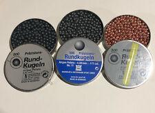 H&N 4.50mm Precision Round Balls lot Include tin clips BBs Copper Graphite