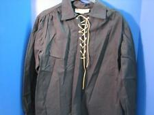 OLD WEST SILVERADO MINING CO. REENACTING  SKINNER SHIRT BLACK SIZE MEDIUM MED.