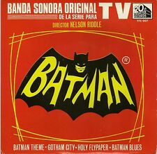 "NELSON RIDDLE BATMAN SPANISH ORIG OST TV EP 45 PS 7"""