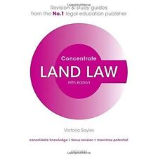 Land Law Concentrate: Law Revision and Study Guide by Victoria Sayles...