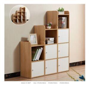 Oak White Sideboard Cupboard Cabinet Storage Unit Display Cube Shelf with Doors