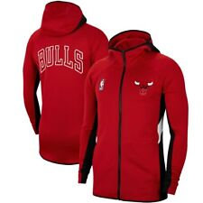 New Nike 2019-2020 Chicago Bulls Authentic Showtime Therma Flex Full-Zip Hoodie