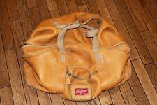 Vintage Rawlings Baseball Glove Tan Leather Carryon Luggage Duffle Bag