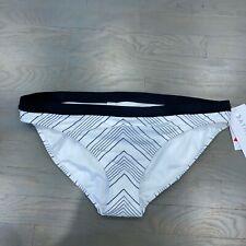 New NWT Women's Athleta Chevron Bikini Bottom Black White Size XL